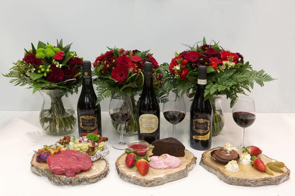 Blomster med vin